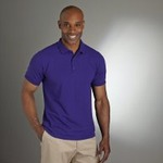 Easy care ring spun blend adult pique polo